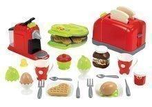 Prăjitor de pâine cu aparat de cafea, aparat vafe Écoiffier 100% Chef şi 33 de accesorii de la 12 luni