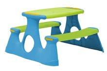Masă de picnic cu 2 bănci Starplast verde-mov