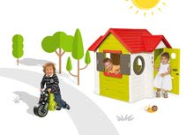 Smoby 810400-16 set domček My House s elektronickým zvončekom a odrážadlo motorka Racing Bike od 2 rokov