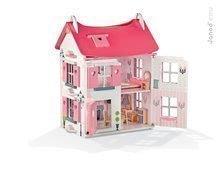 Drevený domček pre bábiky Mademoiselle Doll's House Janod so 17 doplnkami