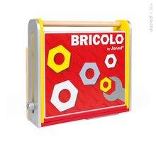 Pracovná detská dielňa - Drevený pracovný stôl Redmaster Bricolo Janod magnetický s 25 doplnkami_0