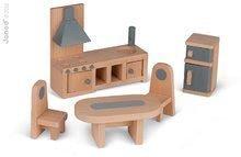 Domčeky pre bábiky - Drevený domček pre bábiky Mademoiselle Doll's House Janod so 17 doplnkami_1