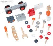 Pracovná detská dielňa - Drevená magnetická stavebnica auto Redmaster Bricolo Janod so žeriavom 25 dielov od 24 mes_1