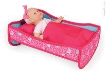 Postieľky a kolísky pre bábiky - Postieľka pre bábiku 36 cm Birdy Paradise Janod textilná v kufríku s perinkou od 24 mes_3