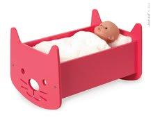 Postieľky a kolísky pre bábiky - Drevená kolíska pre bábiku Babycat Janod s perinkou_0