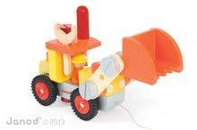 Pracovná detská dielňa - Drevená stavebnica buldozér Redmaster Bricolo Bulldozer Janod s náradím 24 dielov od 24 mes_1