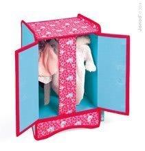 Postieľky a kolísky pre bábiky - Skriňa pre bábiku do 36 cm Birdy Paradise Janod textilná s vešiakmi ružová od 24 mes_0
