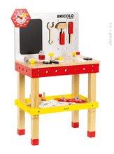 JANOD 06492 fa mágneses szerelőasztal Redmaster Giant Bricolo XL 83 cm 40 kiegészítővel 3-8 éves korig