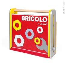 Pracovná detská dielňa - Drevený pracovný stôl Redmaster Bricolo Janod magnetický s 25 doplnkami_1