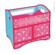 Postieľka pre bábiku do 36 cm Birdy Paradise Janod textilná so skrinkou a perinkou ružová od 24 mes