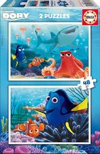 Puzzle pro děti Hledá se Dory Educa 2x48 dílků