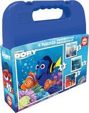 Puzzle pre deti Hľadá sa Dory Educa v kufríku 2x48 dielov