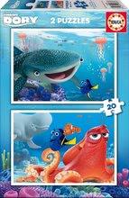 Puzzle pre deti Hľadá sa Dory Educa 2x20 dielov