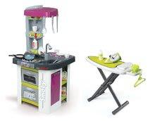 Kuchynky pre deti sety - Set kuchynka Tefal Studio BBQ Bublinky Smoby s magickým bublaním a žehliaca doska so žehličkou Clean_29