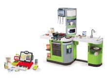 Kuchynky pre deti sety - Set kuchynka CookMaster Verte Smoby s ľadom a zvukmi a dotyková elektronická pokladňa s funkciami_22