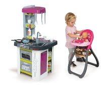 Kuchynky pre deti sety - Set kuchynka Tefal Studio BBQ Bublinky Smoby s magickým bublaním a jedálenská stolička pre bábiku Baby Nurse_23