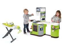 Kuchynky pre deti sety - Set kuchynka CookMaster Verte Smoby s ľadom a zvukmi a žehliaca doska so žehličkou Clean_23