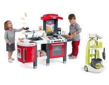 Kuchynky pre deti sety - Set kuchynka Tefal SuperChef Smoby s grilom a kávovarom a upratovací vozík Clean_30