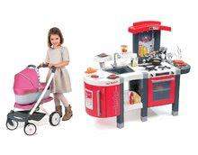 Kuchynky pre deti sety - Set kuchynka Tefal SuperChef Smoby s grilom a kávovarom a kočík pre bábiku retro Maxi Cosi & Quinny 3v1 (rúčka 65,5 cm)_33