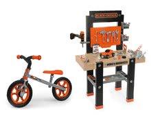 Detská dielňa sety - Set pracovná dielňa Black+Decker Smoby s vŕtačkou a balančné odrážadlo First Bike_20