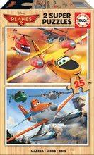 Lesene puzzle Letala Educa 2x25 delov