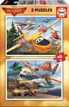 Detské puzzle Lietadlá Educa 2x48 dielov