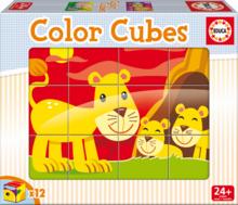 EDUCA 14578 ROZPRÁVKOVÉ KOCKY Color 12 Cubes Animals