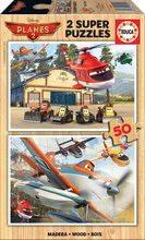 Puzzle din lemn Avioane Educa 2x50 bucăţi de la 5 ani