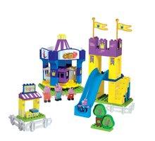 BIG 57080 stavebnica PlayBIG Bloxx Peppa Pig v lunaparku 4 figúrky 126 dielov od 18 mesiacov