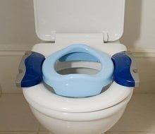 Nočníky a redukce na toaletu - Cestovní nočník/redukce na WC Potette Plus modrý od 15 měsíců_2