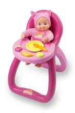Jedálenská stolička MiniKiss Baby Smoby pre 27 cm bábiku s potravinami od 12 mesiacov