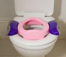 Nočníky a redukce na toaletu - Cestovní nočník/redukce na WC Potette Plus růžovo-fialový od 15 měsíců_6
