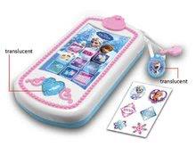 Detský smartphone Frozen Smoby zvukový mobilný telefón so svetlom a trblietkami