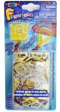 Finger Loom Rainbow Loom 600 kusov žltý