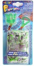 Finger Loom Rainbow Loom 600 kusov zelený