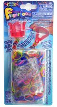 Finger Loom Rainbow Loom 600 kusov červený