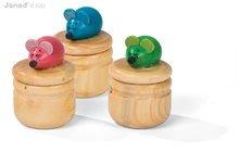 Drevená tradičná hračka 3D Mouse Tooth Box Janod