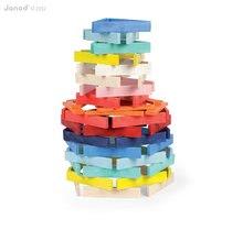 Drevené kocky - Drevené kocky Kubix - 100 Planks Janod stavebnica 100 ks od 24 mes_0