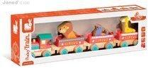 Ťahacie hračky - Drevený vláčik Cirkus Story Set Janod s 3 zvieratkami od 18 mes_0