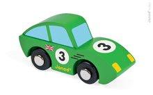 Autíčka - Drevené auto Roadster Story Racing Janod modré/zelené_0