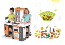 Kuchynky pre deti sety - Set kuchynka Tefal Studio XL Smoby so zvukmi a chladničkou a košík s riadom100% Chef_21