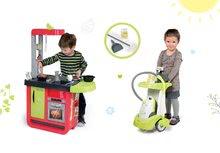 Kuchynky pre deti sety - Set kuchynka Cherry Special Smoby so zvukmi a kávovarom a upratovací vozík s vysávačom_15