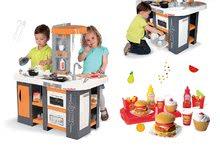 Kuchynky pre deti sety - Set kuchynka Tefal Studio XL Smoby so zvukmi a chladničkou a set hamburgerov 100% Chef_22