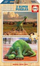 Dřevěné puzzle Dobrý dinosaurus Educa 2x50 dílů od 5 let