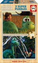 Drevené puzzle Dobrý dinosaurus Educa 2x25 dielov