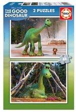 Dětské puzzle Dobrý dinosaurus Educa 2x48 dílků