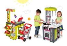 Kuchynky pre deti sety - Set kuchynka Tefal Studio Barbecue Smoby so zvukmi a grilom a obchod Supermarket s pokladňou_25