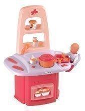 Pelenkázó asztal Nursery Écoiffier játékbabának játékkonyhával 18 hó-tól és 14 db kiegészítővel