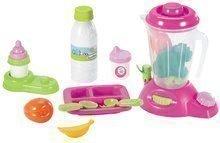 Valiză cu mixer şi alimente Nursery Écoiffier pentru păpuşa roz cu 12 accesorii de la 12 luni