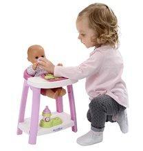 Dětská chodítka - Set chodítko a kočárek pro panenku 3v1 MiniKiss Smoby s pečovatelským pultem se židlí a kolébka s vaničkou_6
